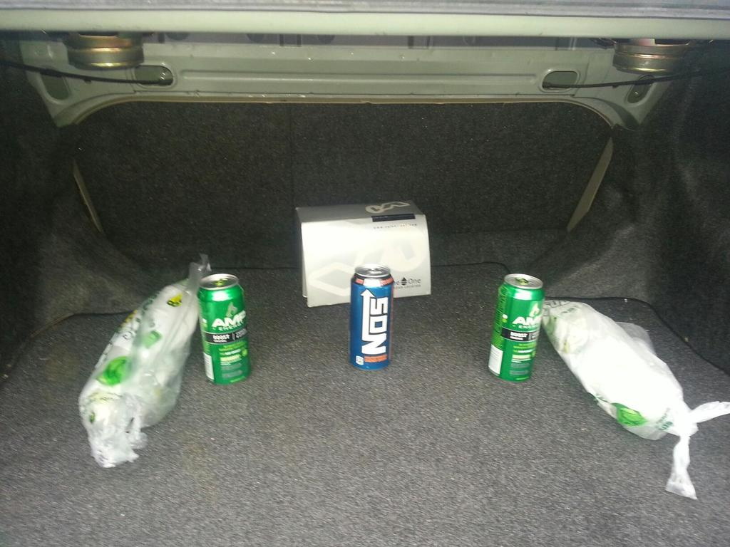 395774 Just outfitted my car with some amps, 12 inch subs, and NOS